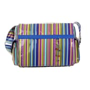 Hadaki Padded Multitasker Cobalt Stripes Messenger Bag