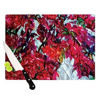 KESS InHouse Bougainvillea Cutting Board; 11.5'' H x 8.25'' W