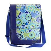 Hadaki PU / Coated On The Run Laptop Shoulder Bag; Cobalt