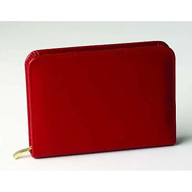 Budd Leather Travel Accessory 14 Vial Pill Case; Red