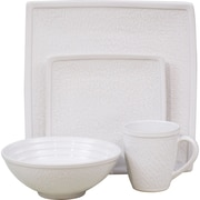Sango Galaxy 16 Piece Dinnerware Set; White