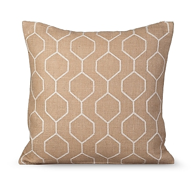 Gracious Living Pyramid Burlap Throw Pillow; Fall Leaf