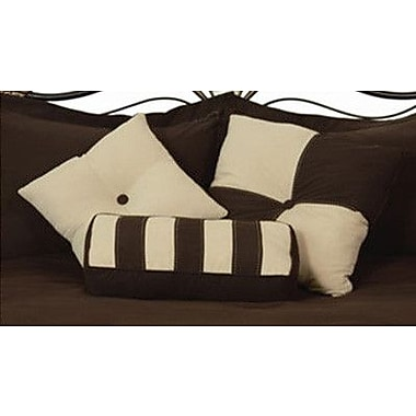 LCM Home Fashions, Inc. 3 Piece Throw Pillow Set; Chocolate / Khaki