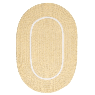 Colonial Mills Silhouette Yellow Indoor/Outdoor Area Rug; Oval 5' x 8'