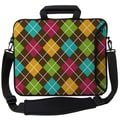 Designer Sleeves Executive Sleeves Argyle Brown PC Laptop Bag; 17''