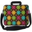 Designer Sleeves Executive Sleeves Argyle Brown PC Laptop Bag; 15''
