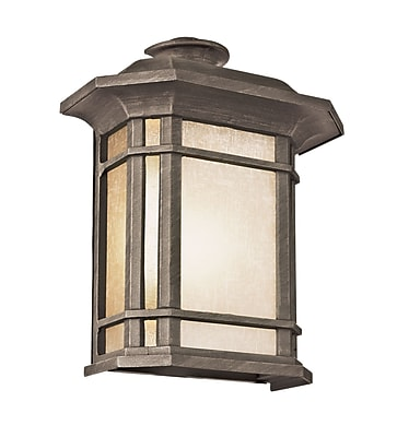 TransGlobe Lighting Corner Windows 1-Light Outdoor Flush Mount; Rust WYF078275716710