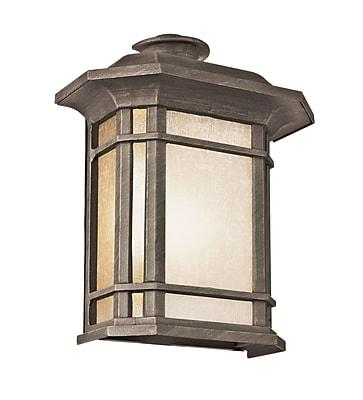 TransGlobe Lighting Corner Windows 1 Light Outdoor Flush Mount; Rust WYF078275716710