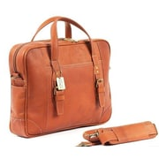 Claire Chase Durango Leather Laptop Briefcase