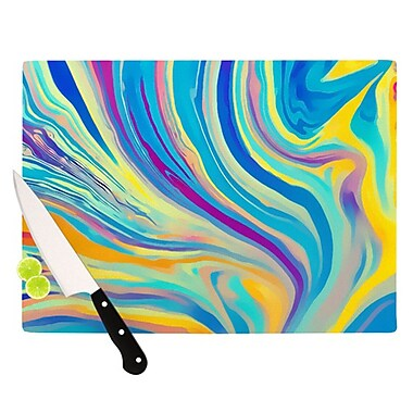 KESS InHouse Rainbow Swirl Cutting Board; 11.5'' H x 15.75'' W x 0.15'' D