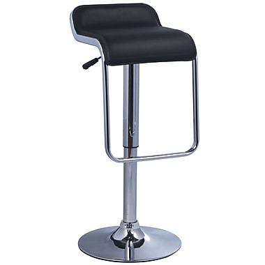 Pangea Home Milo 32'' Adjustable Bar Stool  (Set of 2); Black