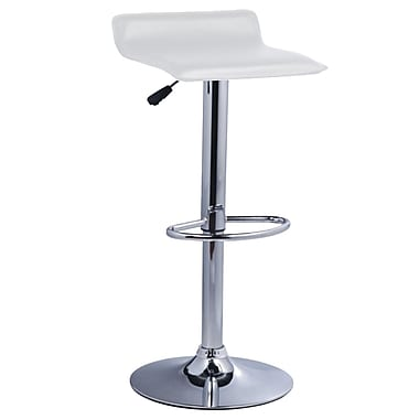 Pangea Home Pax 24'' Adjustable Bar Stool  (Set of 2); White