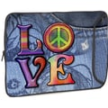 Designer Sleeves Love(Peace) Designer MacBook Sleeve; 17''