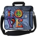 Designer Sleeves Executive Sleeves Love(Peace) PC Laptop Bag; 14''