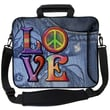 Designer Sleeves Executive Sleeves Love(Peace) PC Laptop Bag; 15''