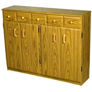 Venture Horizon VHZ Entertainment Multimedia Cabinet with Library Style Drawers; Oak and Black