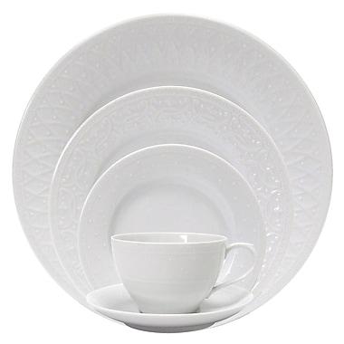Nikko Ceramics Blanc Fleur 5 Piece Place Setting