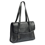 Claire Chase Belize Computer Tote Bag; Black