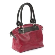 Claire Chase Barcelona Tote Bag; Red with Black