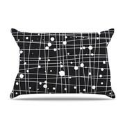 KESS InHouse Woven Web Mono Pillowcase; King