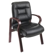 Office Star Deluxe Leather Visitors Chair with Top Grain