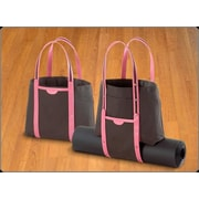 Crescent Moon Convertible Tote in Black and Pink