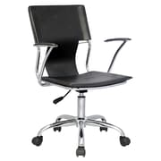 Chintaly Mid Back Office Chair with Swivel; Black