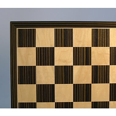 WorldWise Chess 17'' Ebony and Maple Veneer Chess Board