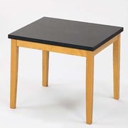 Lesro Lenox Corner Table with Black Melamine Top; Medium