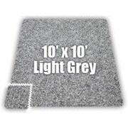 Alessco SoftCarpets Set in Light Grey; 20' x 20'