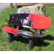 Ski Chair Wake Board Recycled Plastic Garden Bench; Black and Red