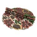 Xia Home Fashions Dainty Leaf Embroidered Cutwork Harvest Placemat (Set of 4); 16'' W x 16'' D