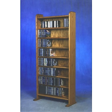 Wood Shed 800 Series 440 CD Multimedia Storage Rack; Natural