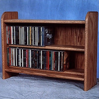 Wood Shed Deluxe 110 CD Multimedia Tabletop Storage Rack; Dark