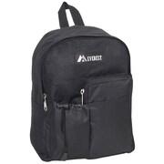 Everest Junior Bottle Pocket Backpack; Black