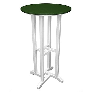 POLYWOOD Contempo Bar Table; White & Green