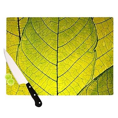 KESS InHouse Every Leaf a Flower Cutting Board; 11.5'' H x 8.25'' W