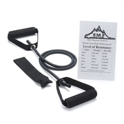 Black Mountain Products Single Resistance Band with Door Anchor and Starter Guide; 15-20 lbs (Black)