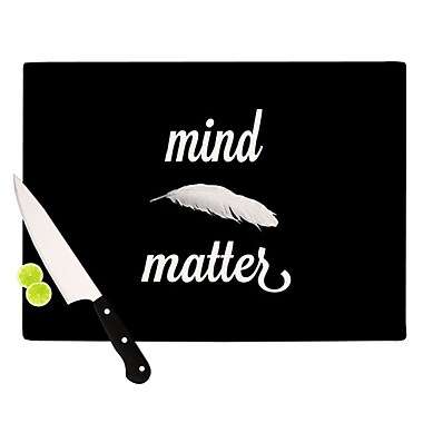 KESS InHouse Mind Over Matter Cutting Board; 11.5'' H x 15.75'' W