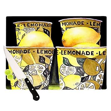 KESS InHouse Lemonade Cutting Board; 11.5'' H x 15.75'' W
