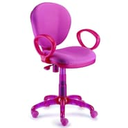 New Spec I-Chair Mid-Back Task Chair with Arms; Pink