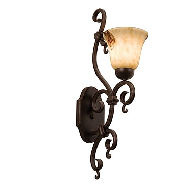 Kalco Palladium 1 Light Wall Sconce w/ Shade; Copper Claret