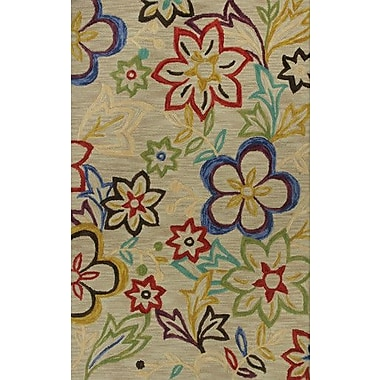 KAS Rugs Anise Sunshine Green Floral Area Rug; 7'9'' x 9'9''