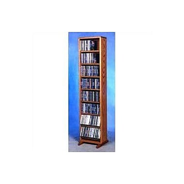 Wood Shed 800 Series 208 CD Dowel Multimedia Storage Rack; Unfinished