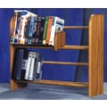 Wood Shed 200 Series 80 DVD Dowel Multimedia Tabletop Storage Rack; Natural