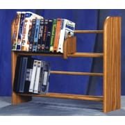 Wood Shed 200 Series 80 DVD Dowel Multimedia Tabletop Storage Rack; Clear