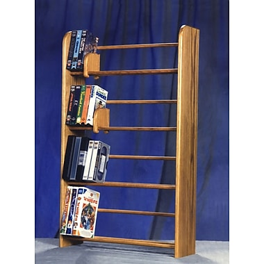 Wood Shed 400 Series 160 DVD Dowel Multimedia Storage Rack; Clear