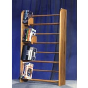 Wood Shed 400 Series 160 DVD Dowel Multimedia Storage Rack; Dark