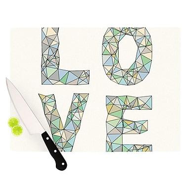 KESS InHouse Four Letter Word Cutting Board; 11.5'' H x 15.75'' W