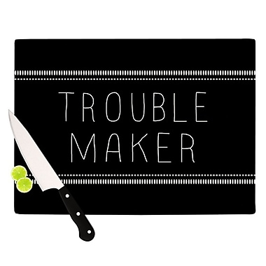 KESS InHouse Trouble Maker Cutting Board; 11.5'' H x 8.25'' W
